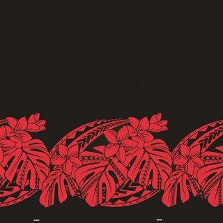 黒と赤のハワイアンファブ...