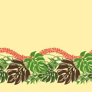 ベージュのハワイアンファ...