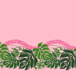 ピンクのハワイアンファブ...