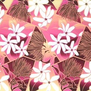 紫とピンクのハワイアンフ...