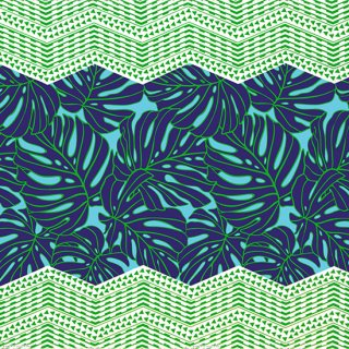 水色と青のハワイアンファ...