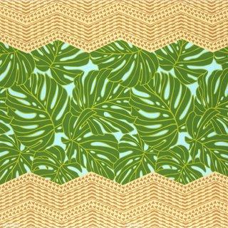 水色と緑のハワイアンファ...
