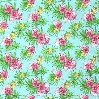 水色のハワイアンファブリ...