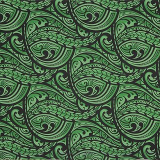 緑のハワイアンファブリッ...