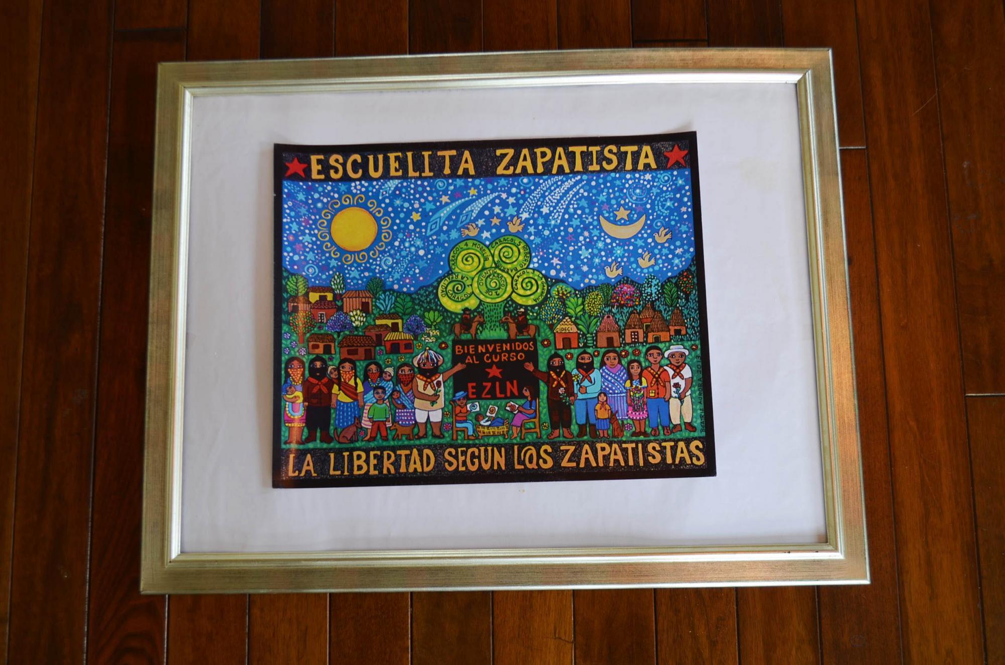 サパティスタポスター『解放されたサパティスタの学校』