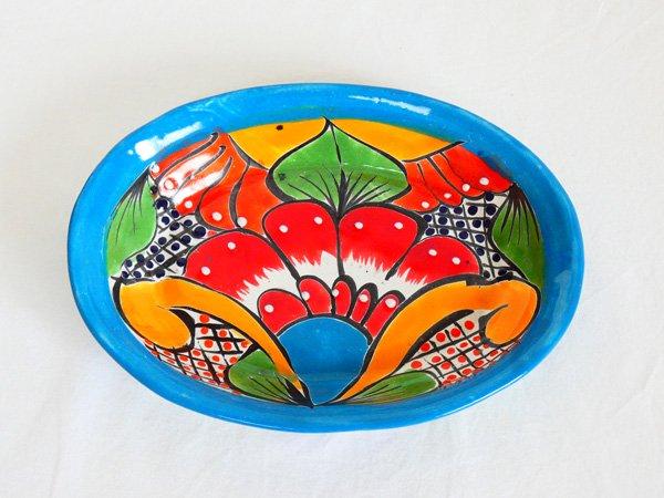 タラベラ焼き ソープ皿(グァナファト産)