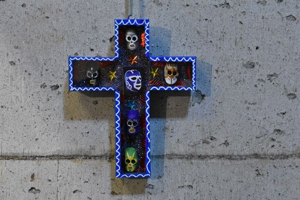 ガイコツボックス『十字架のルチャリブレ』【ブルー】