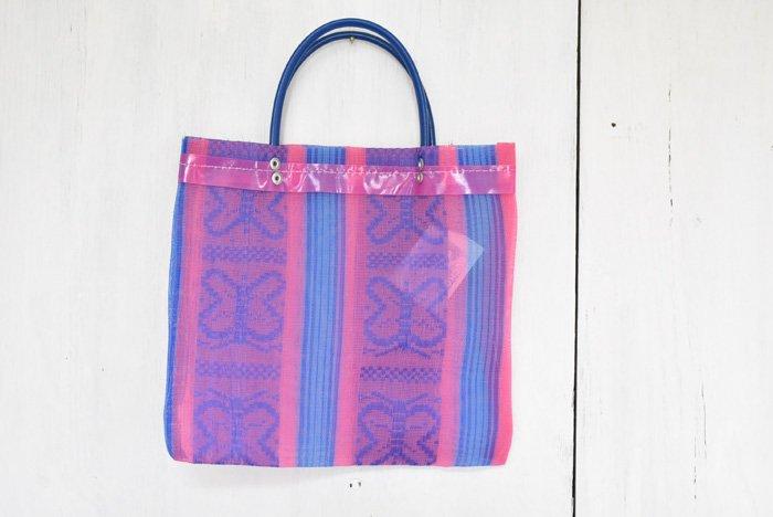 バタフライメッシュバッグ(小)/紫&ピンク
