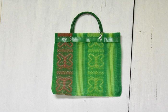 バタフライメッシュバッグ(小)/緑色