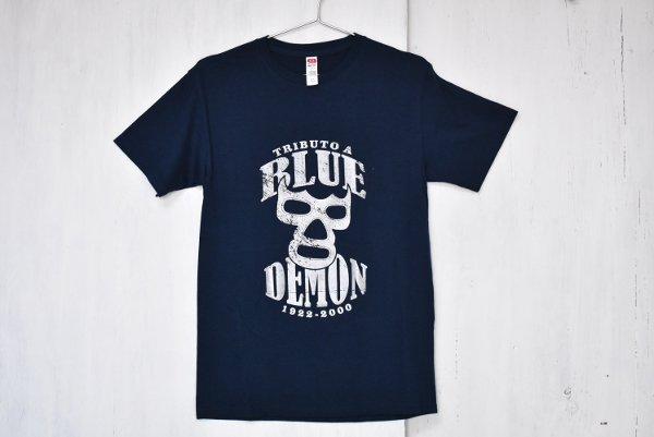ルチャリブレTシャツ『ブルーデーモン』(MEN'S/M-size)