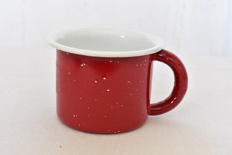ホーローマグカップ☆レトロ赤【ヴィンテージ】