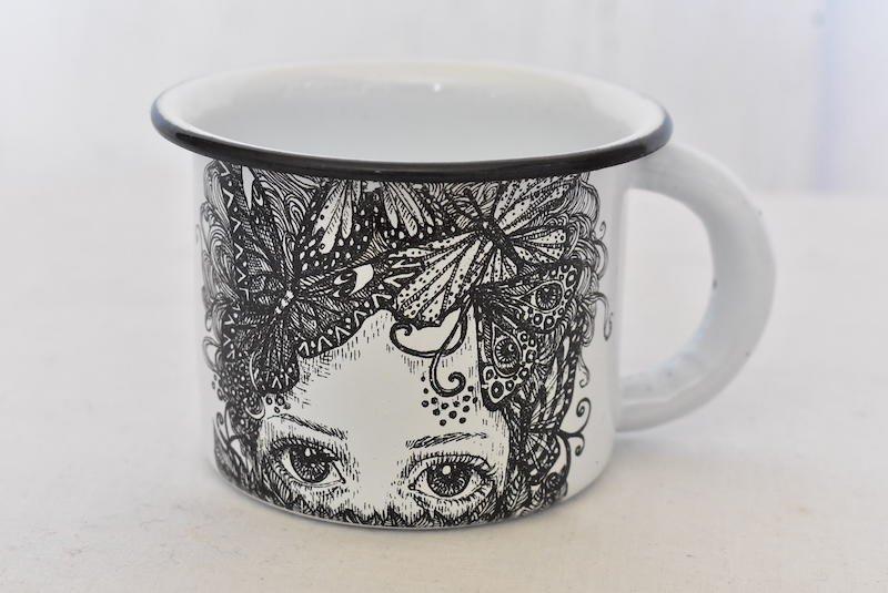ホーローマグカップ☆ホワイト【ヴィンテージ】