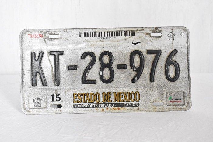 メキシコの車ナンバープレートC※本物です