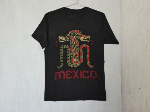 MEXICOTシャツ『アステカ』(Men's-size/ブラック)