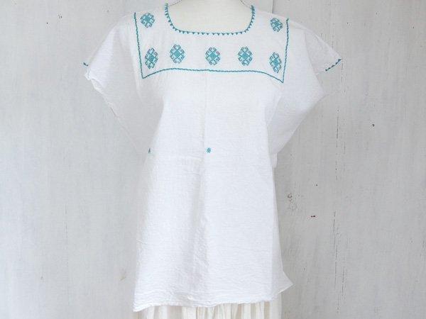チアパス刺繍ウィピルA ホワイト