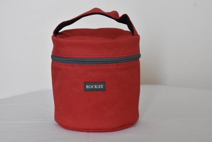 ROCKET フードキャリア 2段式/直径12cm/保温ジャケット付【タイ製】