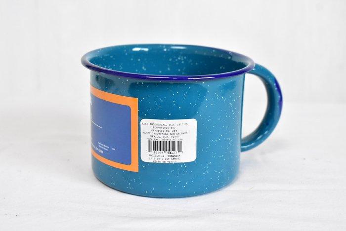 ホーローマグカップ/特大/『ターコイズブルー』
