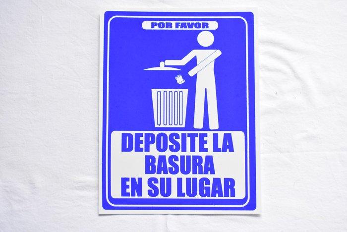 『ゴミを捨てましょう』(スペイン語看板)