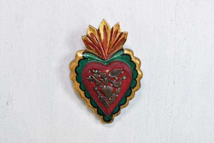 木製コラソン ミラグロ/赤緑