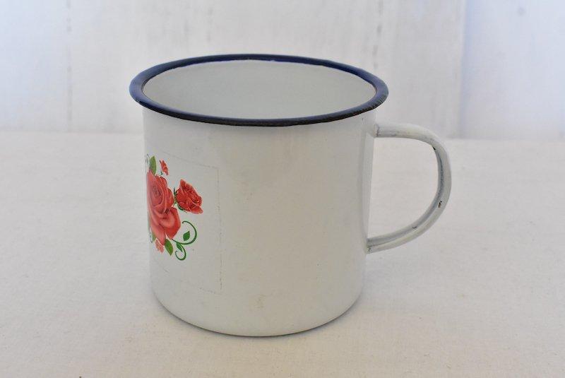 ホーローマグカップ☆大A『レトロホワイト』