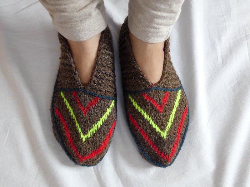 手編み靴下F☆ショート【イラン製】23cmまで