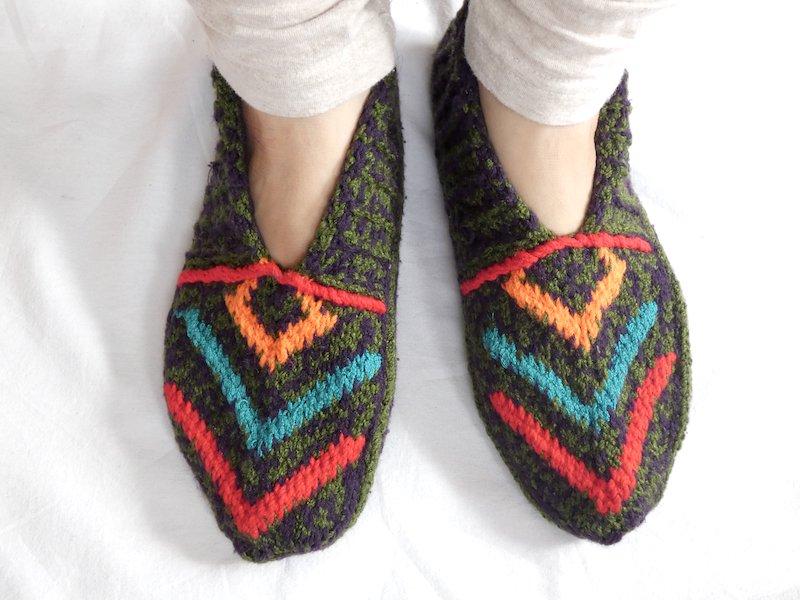 手編み靴下C☆ショート【イラン製】24.5cmまで