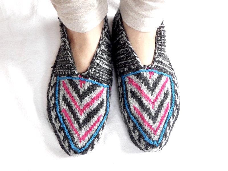 手編み靴下B☆ショート【イラン製】24.5cmまで