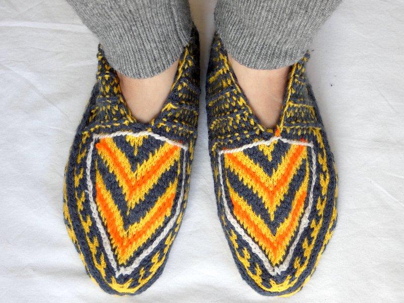 手編み靴下S☆ショート【イラン製】24.5cmまで
