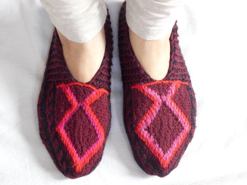 手編み靴下V☆ショート【イラン製】23.5cmまで