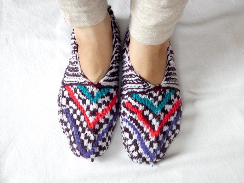 手編み靴下G☆ショート【イラン製】23.5cmまで