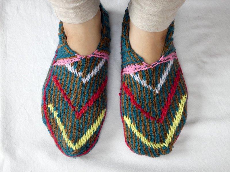 手編み靴下W☆ショート【イラン製】24.5cmまで