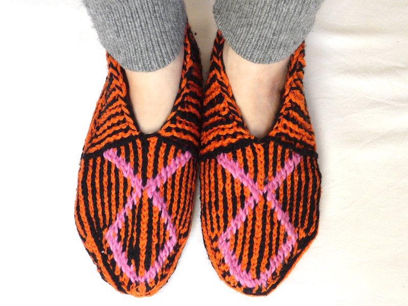 手編み靴下X☆ショート【イラン製】24.5cmまで