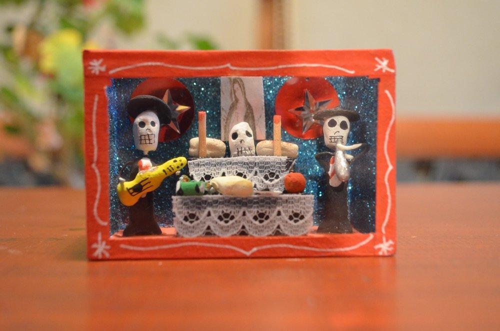 ガイコツボックス『死者の葬式」【レッド】