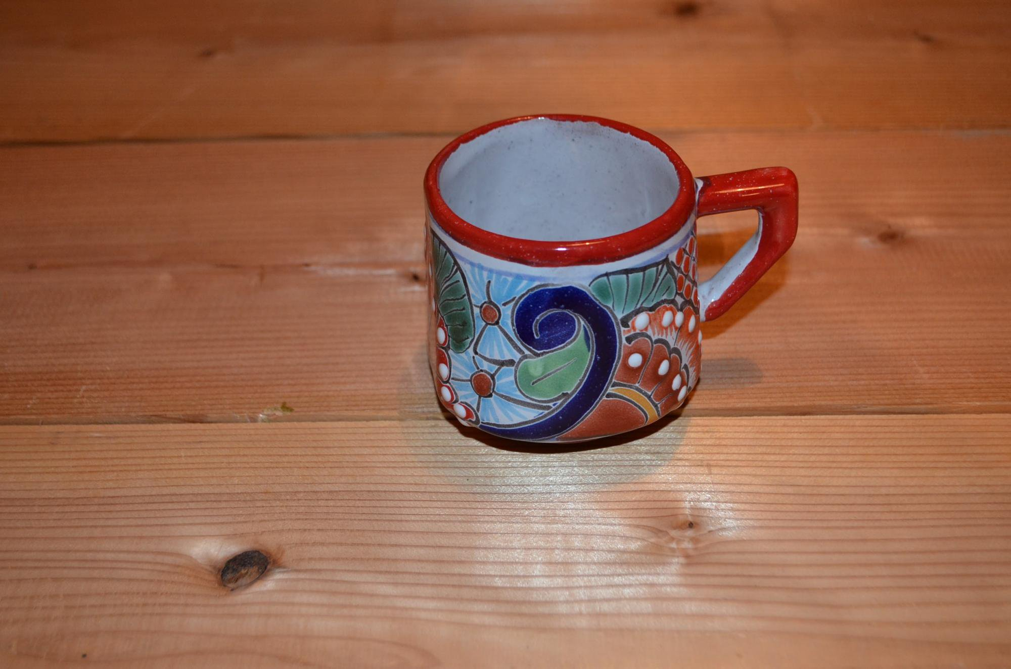 タラベラ焼 マグカップ レッド(グァナファト産)