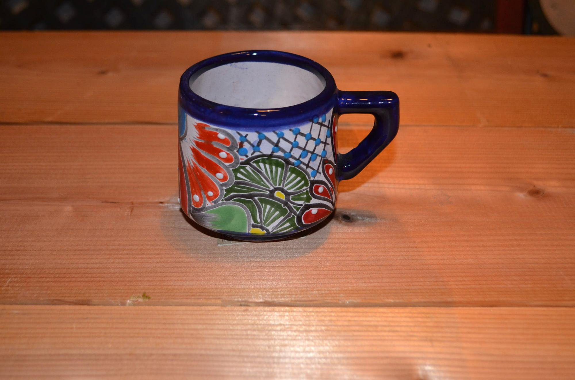 タラベラ焼 マグカップ☆ブルー(グァナファト産)