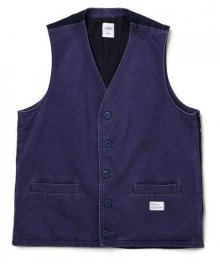 """<img class='new_mark_img1' src='https://img.shop-pro.jp/img/new/icons34.gif' style='border:none;display:inline;margin:0px;padding:0px;width:auto;' />BEDWIN <BR>CHINO VEST""""ZANDER"""" (NAVY)"""