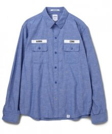 """<img class='new_mark_img1' src='https://img.shop-pro.jp/img/new/icons49.gif' style='border:none;display:inline;margin:0px;padding:0px;width:auto;' />BEDWIN <BR>L/S PRISONER SHIRT """"WILK"""" 【SOLD OUT】"""