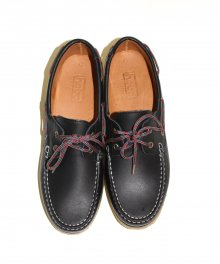 <img class='new_mark_img1' src='https://img.shop-pro.jp/img/new/icons34.gif' style='border:none;display:inline;margin:0px;padding:0px;width:auto;' />hobo <BR>Cow Leather Deck Shoes with Nylon Cord (BLACK)
