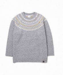 """<img class='new_mark_img1' src='https://img.shop-pro.jp/img/new/icons49.gif' style='border:none;display:inline;margin:0px;padding:0px;width:auto;' />BEDWIN <BR>C-NECK NORDIC SWEATER""""DANNY"""" (GRAY) SOLD OUT"""