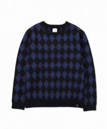 """<img class='new_mark_img1' src='https://img.shop-pro.jp/img/new/icons34.gif' style='border:none;display:inline;margin:0px;padding:0px;width:auto;' />BEDWIN <BR>C-NECK JACQUARD KNIT SWEATER""""WRIGHT"""" (NAVY)"""