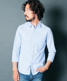 <img class='new_mark_img1' src='https://img.shop-pro.jp/img/new/icons34.gif' style='border:none;display:inline;margin:0px;padding:0px;width:auto;' />Magine <BR>BROOKS OXFORD STANDARD SHIRTS 3/4 SLEEVE (SAX)