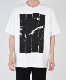 <img class='new_mark_img1' src='https://img.shop-pro.jp/img/new/icons49.gif' style='border:none;display:inline;margin:0px;padding:0px;width:auto;' />LAD MUSICIAN <BR>PERMANENT ROCKER PRINT BIG T (WHITE) SOLD OUT