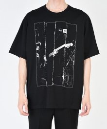 <img class='new_mark_img1' src='https://img.shop-pro.jp/img/new/icons49.gif' style='border:none;display:inline;margin:0px;padding:0px;width:auto;' />LAD MUSICIAN <BR>PERMANENT ROCKER PRINT BIG T (BLACK) SOLD OUT
