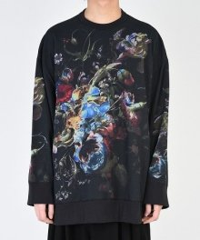 <img class='new_mark_img1' src='https://img.shop-pro.jp/img/new/icons49.gif' style='border:none;display:inline;margin:0px;padding:0px;width:auto;' />LAD MUSICIAN <BR>LOOP BACK CLOTH FLOWER PULL OVER (BLACK×BLUE×YELLOW) SOLD OUT
