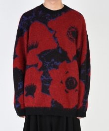 <img class='new_mark_img1' src='https://img.shop-pro.jp/img/new/icons49.gif' style='border:none;display:inline;margin:0px;padding:0px;width:auto;' />LAD MUSICIAN <BR>MOHAIR WJQ KNIT BIG PULLOVER (BLACK×RED×BLUE) SOLD OUT