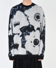 <img class='new_mark_img1' src='https://img.shop-pro.jp/img/new/icons49.gif' style='border:none;display:inline;margin:0px;padding:0px;width:auto;' />LAD MUSICIAN <BR>MOHAIR WJQ KNIT BIG PULLOVER (BLACK×WHITE×BLUE GRAY) SOLD OUT