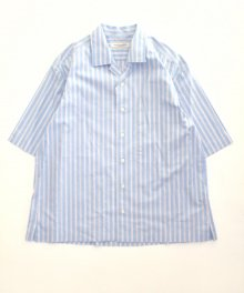 <img class='new_mark_img1' src='https://img.shop-pro.jp/img/new/icons49.gif' style='border:none;display:inline;margin:0px;padding:0px;width:auto;' />UNIVERSAL<BR>PRODUCTS <BR>STRIPE OPEN COLLAR S/S SHIRT SOLD OUT
