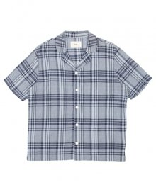 <img class='new_mark_img1' src='https://img.shop-pro.jp/img/new/icons34.gif' style='border:none;display:inline;margin:0px;padding:0px;width:auto;' />Folk<BR>SS SOFT COLLAR SHIRT TONE ON TONE CHECK (BLUE)