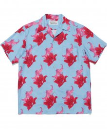 <img class='new_mark_img1' src='https://img.shop-pro.jp/img/new/icons49.gif' style='border:none;display:inline;margin:0px;padding:0px;width:auto;' />WACKOMARIA<BR> HAWAIIAN SHIRT S/S ( TYPE-2 ) (BLUE) SOLD OUT