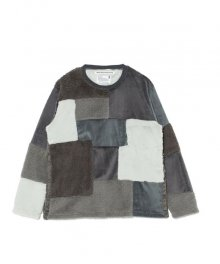 <img class='new_mark_img1' src='https://img.shop-pro.jp/img/new/icons49.gif' style='border:none;display:inline;margin:0px;padding:0px;width:auto;' />White<BR>Mountaineering<BR>FLEECE PATCHWORK PULLOVER  (GRAY) SOLD OUT